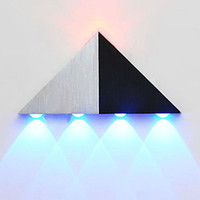5W Aluminium Triangle Modern Led Wall Lamp With 5 Lights For...