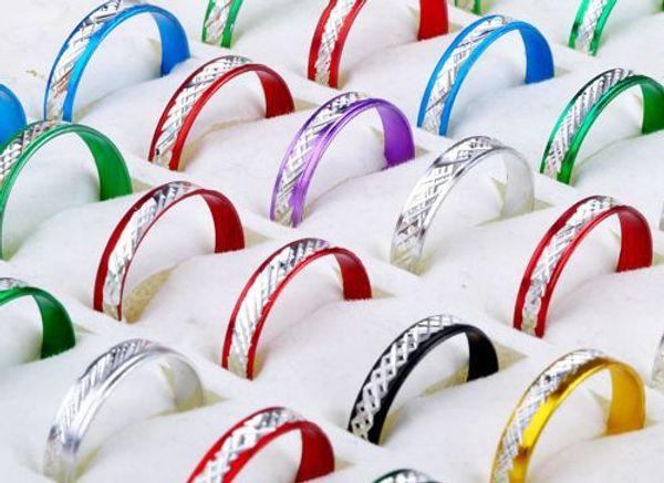 NEUE Ankunfts Art- und Weisegroßhandelsschmucksachen verlost Mischungs-Farben-Art-Aluminiumringe 1000pcs 3-4mm Schmucksachen Freies Verschiffen
