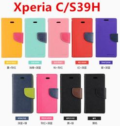 Wholesale M35h Case - Mercury Wallet PU Flip Leather Case Cover For Sony Xperia Z L36H Z1 L39H Z2 D6503 Z1 Mini XL39H C1905 S39H M36H M35H S36H With Retail Box
