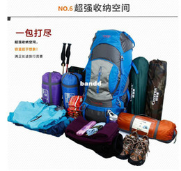 Wholesale Bagpack Outdoors - 2016 new arrival Outdoor Mountaineering Double-shoulder Hiking Bagpack 80L Capacity Tactical Climbing Backpack outdoor hiking backpack