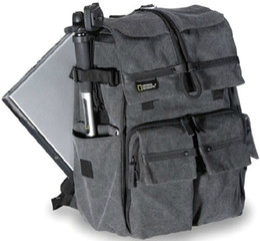 Wholesale Canvas Dslr Camera Shoulder Bag - National Geographic brand W 5070 dslr rucksack NG W5070 Gray slr day pack Canvas camera backpack