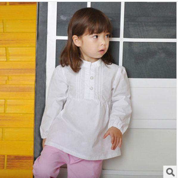 top popular 2014 Autumn Shirts Doll Shirts Girl's Long- sleeve Tops Children's Clothing 2021