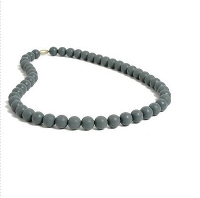 Ny design silikon baby teething chewing mode halsband, 10 stycken set halsband chew silikon halsband set med färger blandat urval