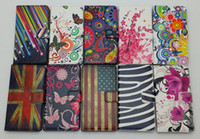Wholesale Star Xperia - Star Flower Floral Butterfly UK USA Flag Zebra Wallet PU Flip Leather Cover With Card Slots For Sony Xperia Z L36H Z1 L39H Z2 D6503 Z1 MINI