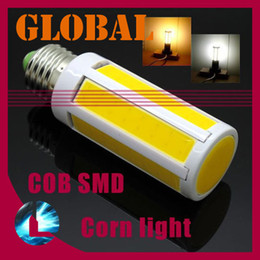 Wholesale E14 Led Cob Corn Bulb - 5 piece cob led bulb Super Bright 7W 15W 1200 lumen COB SMD LED Corn Bulb Light E27 E14 B22 Lamp Cool Warm White 360 degree 2014 New Arrival