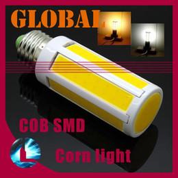 Wholesale E27 7w Cob Corn - 5 piece cob led bulb Super Bright 7W 15W 1200 lumen COB SMD LED Corn Bulb Light E27 E14 B22 Lamp Cool Warm White 360 degree 2014 New Arrival