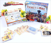 Wholesale New Adult Board Games - MXZA Cards Adult Games Complete Ticket To Ride Railroad Board Game Cards version Days of Wonder Trains Fashion New