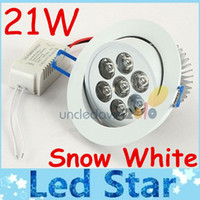 Wholesale led snow - Hot Sales 21W Dimmable Led Recessed Downlights Lamp Snow White Ultra Bright Cool Natural Warm White Indoor Led Ceiling Light AC 110-240V