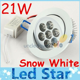 Wholesale high energy led - Warranty 2 Years + Dimmable 21W Led Downlights Recessed Ceiling Light High Power Cool Warm White Energy Saving Led Indoor Lights AC 110-240V