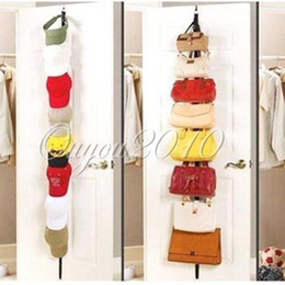 Adjustable Straps Hanger Over Door Hat Bag Clothes Rack Holder Organizer  Storage Free Shipping,dandys