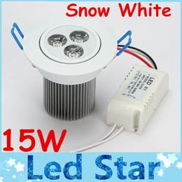 luce naturale del soffitto Sconti 15W Dimmable Led plafoni da incasso Downlights ad alta potenza 5X3W 900 lumen Cool / Natural / Cool bianco Led per interni lampada 110-240V con autista
