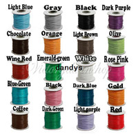 Wholesale sew string - Waxed Cotton Cords For Wax Jewelry Making DIY Bead String Bracelet Sewing Leather Necklace 20 Colors 1mm 90 Meters FreeShipping,dandys