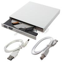 harici combo sürücüler toptan satış-Yeni Dış Durum DVD CD Combo CD-RW CDRW MAC için DVD-ROM Burner Sürücü PC için Beyaz USB 2.0 Dizüstü Dizüstü Ücretsiz Nakliye, dandys