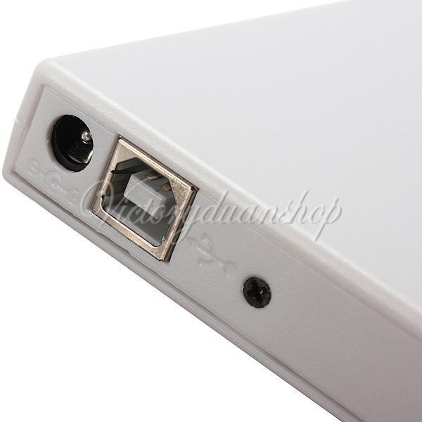 Nuovo caso esterno DVD CD combinato CD-RW CDRW masterizzatore DVD-ROM MAC White USB 2.0 PC Laptop Notebook Spedizione gratuita, dandys