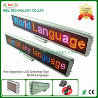 Wholesale scrolling led advertising signs - Indoor LED Electronic Scrolling Sign Advertising Message Board Display,Edit By PC Rechargeable Mulit-language 55cm DHL Free ship