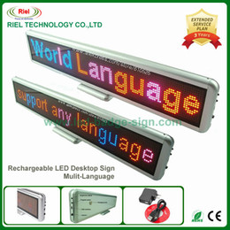 Wholesale Electronic Advertising - Indoor LED Electronic Scrolling Sign Advertising Message Board Display,Edit By PC Rechargeable Mulit-language 55cm DHL Free ship