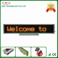 Indoor Led Signage online - LED Advertising Sign Message Signage Digit Board Indoor 16*96 dots,Yellow color,Bulit-in Rechargable Battery,Support Russian Free Shipping