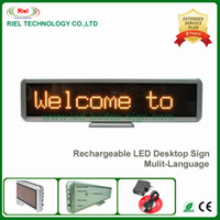 Wholesale Battery Signs - 1pcs lot,LED Scrolling Display Board Shop Signs Yellow 16*96 pixel USB LED MESSAGE 420*110*20mm Bulit-in rechargeable battery,With software