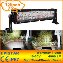 "$enCountryForm.capitalKeyWord Canada - 13"" Inch 72W LED Work Driving Light Bar Lamp Bulb Spot Flood for Boat Truck SUV ATV OffRoad Car 12v 24v"