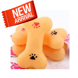 Wholesale Pet mini bones sound toys dog toys rubber pet toys