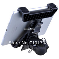 Wholesale Alloy Adjustment - Mic Microphone Stand Tablet Mount with 360 Swivel Adjustment Holder for iPad 2 3 4 mini Nexus Kindle Fire Galaxy Tab 2 3 Note