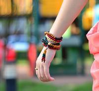 ingrosso il rosario del braccialetto borda il legno di sandalo-Spedizione gratuita multicolor 6mm 8mm 108 perle di legno di sandalo japa rosario preghiera mala braccialetto Tibetano buddista meditazione perline braccialetto