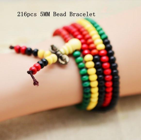 Moda multicolor 5mm 6mm Rondelle perle di sandalo preghiera mala braccialetto Tibetano meditazione Buddha braccialetto regalo