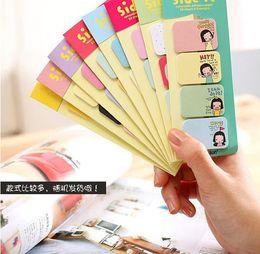 Wholesale Mini Sticky Memo - Wholesale - 100 sets lot Cute Mini Memo Pad Sticky Note Kawaii Paper Scrapbooking Sticker Pads Creative Korean Stationery Free shipping