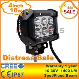 4 Zoll 18W CREE LED Arbeitslicht Bar Lampe Für Motorrad Traktor Boot Off Road 4WD 4x4 Truck SUV ATV Spot Flut 12V 24V im Angebot