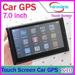 Wholesale Dvd Car Mercedes - 7inch Car GPS Nnavigator Navigator Win CE With 128MB 4GB MTK Multilingual Free Multi-country NEWEST Map DHL 10PCS YX-DH-03