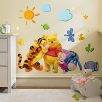 Wholesale Ships Wall Stickers - Free Shipping Winnie the Pooh Removable Home Decor Wall Decal Sticker for Kids Nursery Decoration
