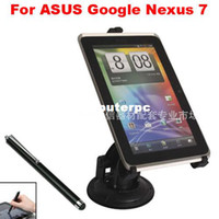 Wholesale Google Nexus Car Holder - Rotary Tablet PC Stand Tablet Holder Car Holder +Tablet Stylus Pen For Asus Google Nexus 7 II 2014 New Nexus 7