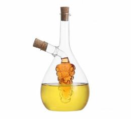Wholesale Glass Sauce Bottles - 450ml Heat Resistant Handblown Glass Oil Vinegar and Soy Sauce Bottle Kitchen Spice Bottles Jars Cruet Seasoning Bottle Cooking Tools RY1419