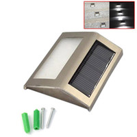 Wholesale Flood Garden - Waterproof LED Solar Light Lamps Solar Led Flood Lights 2 Leds Garden Lights Outdoor Landscape Lawn Lamp Solar Wall Lamps
