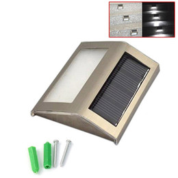 Wholesale Led Light Flood - Waterproof LED Solar Light Lamps Solar Led Flood Lights 2 Leds Garden Lights Outdoor Landscape Lawn Lamp Solar Wall Lamps