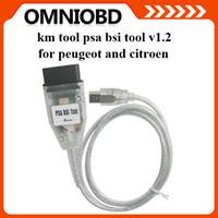 Wholesale Peugeot Bsi - PSA BSI Tool V1.2 for Peugeot and Citroen KM Tool 2015 New Arrivals Odometer Programmer with Best Price