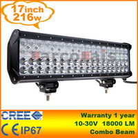 "Ajustable Combo Beam 17"" 216W CREE LED Light Bar Truck ..."