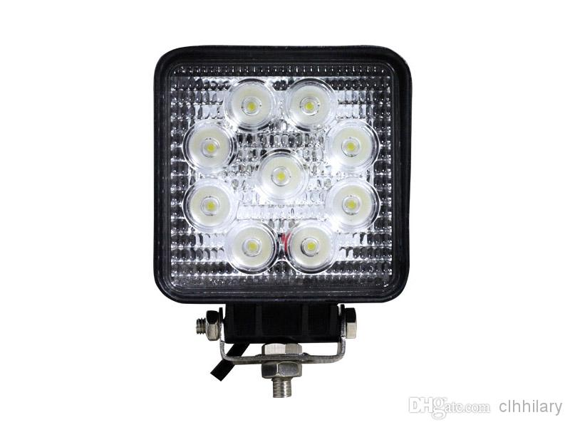 4 inch 27W Outdoor Waterproof LED Work Light 12V 24V Car LED Spotlight Fog Light Off road ATV Tractor Train Bus Boat Floodlight