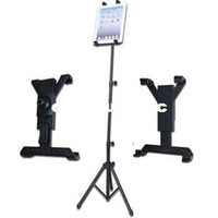Wholesale Tripod Stand For Ipad - New Creative 1Pcs Black Foldable Tripod Adjustable Holder Bracket Cradle Stand For iPad 1 2 3 Tablet Free Shipping