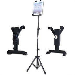 Wholesale Tablet Cradle - New Creative 1Pcs Black Foldable Tripod Adjustable Holder Bracket Cradle Stand For iPad 1 2 3 Tablet Free Shipping