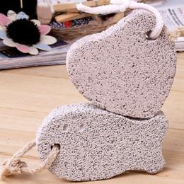 Wholesale Item Stone - New Design Pedicure Scrubber Natural Pumice Stone Lava Bathe Stone Rid Callus Body Scrubs Item Skin Care Tools HOT Selling 20pcs lot SH837