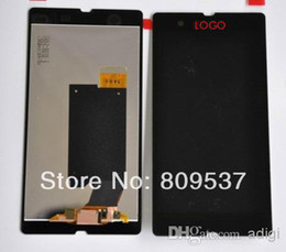 Wholesale Xperia Z Lcd - For Xperia Z C6603 L36h LCD Display Screen with Touch Screen Digitizer Assembly Replacement Part Genuine New