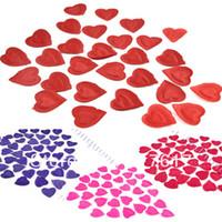 Wholesale Silk Heart Petals - New 144 PCS flower decoration for wedding Heart Design Silk Rose Petals Wedding Party Confetti Decorations 5 colors 11550 Z