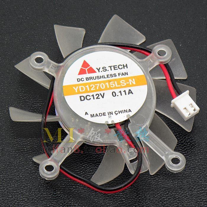 Original para o fã de refrigeração 0.08A 0.11A 0.13A 0.15A da placa gráfica de Asus 8600GT 9600GT