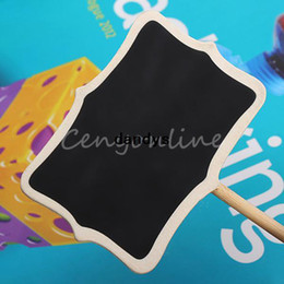 Wholesale Mini Message Chalkboard - Free Shipping 5pcs Mini Blackboard Chalkboard Wordpad Message Sign Board Holder Clip For Wedding Decor Family Party,dandys