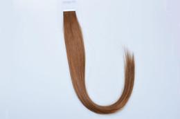 Cheveux clairs de peau marron en Ligne-grade - 5A 14 '' - 24 '' 100% indien humain PU EMY Bande Extensions de cheveux de la peau 2.5g / pcs 40pcs100g / pack # 8 brun clair DHL FREE shpping