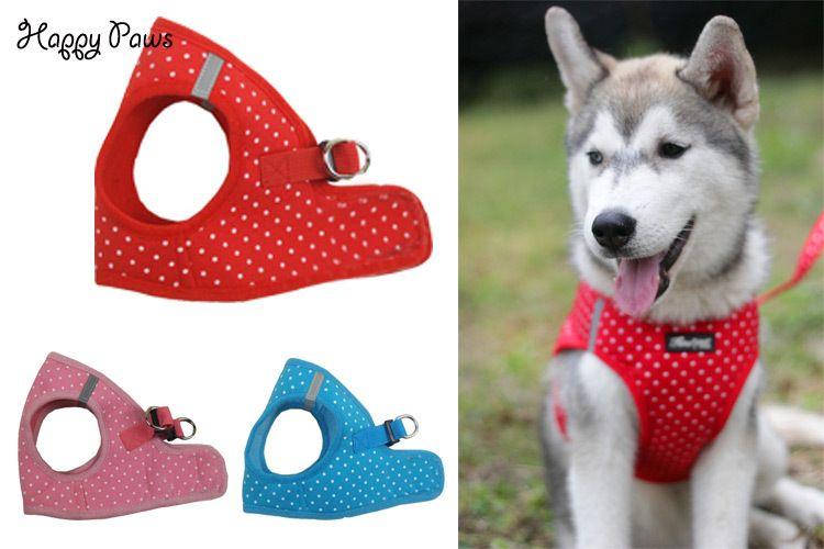 fashion pet dog harness vest polka dot 100 cotton adjustable waist belt teddy bear pug dog collar leash lead from shenfa01 dhgatecom
