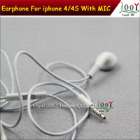 Wholesale Volume Control Mic 4s - 3.5mm Stereo Headset Earbuds Earphone With Mic volume control In Ear Headphone For HTC s3 s4 note 2 note 3 iphone 4 4G 4S 3GS MP3 MP4