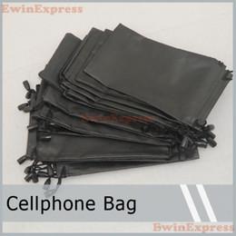 Wholesale Glasses Case Holder - Black PU Calfskin Pouch Carry Bag Case Holder For Cellphone Phone Sunglasses Glasses Cellphone