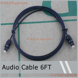 Wholesale Fiber Digital Audio - Hot sale durable Digital Optical Fiber Optic Toslink Audio Cable 6FT 5 pcs  lot free shipping
